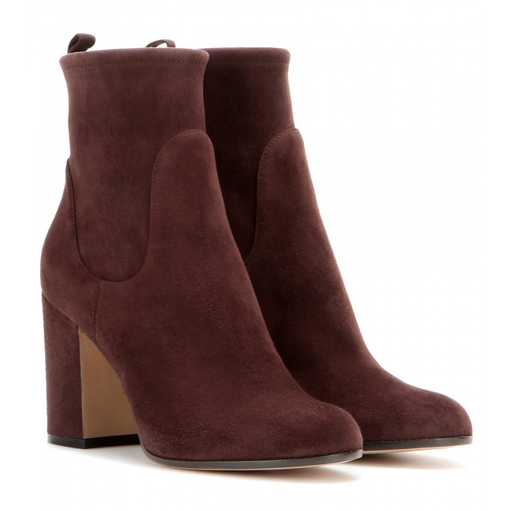 gianvito rossi suede ankle boots in brown lyst. Black Bedroom Furniture Sets. Home Design Ideas