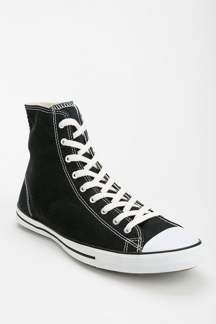 Converse Fancy Womens Hightop Sneaker In Black Lyst
