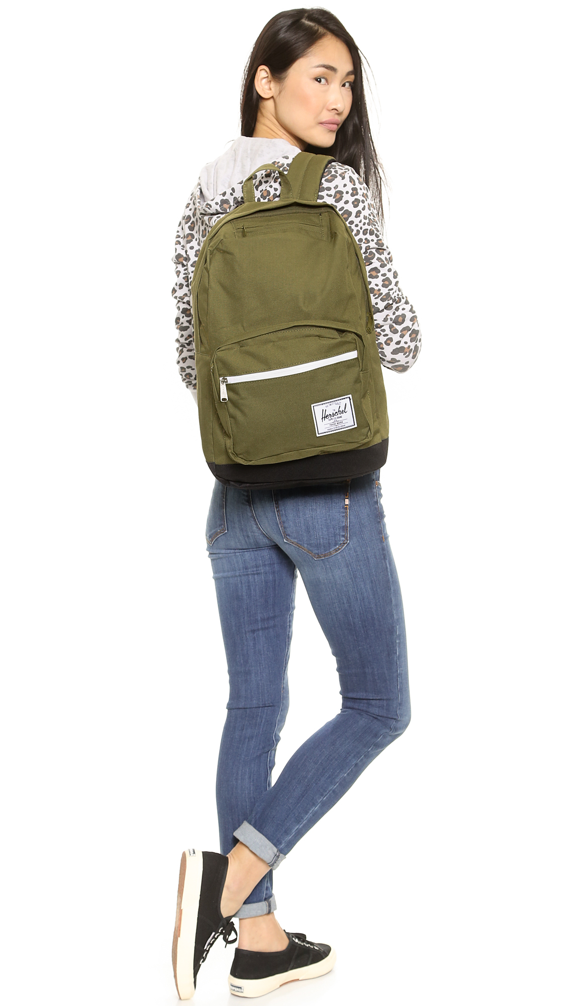 ddb98625229 Lyst - Herschel Supply Co. Pop Quiz Backpack - Army in Green