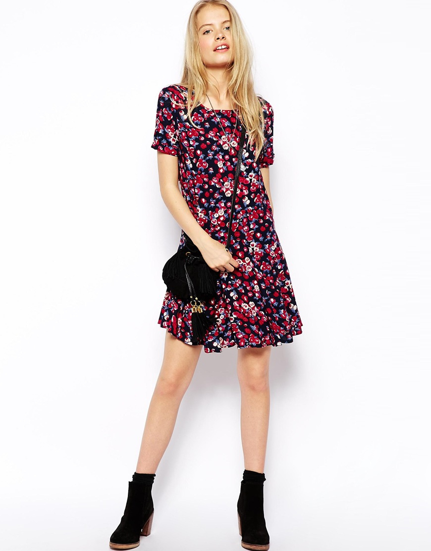 22d7fb054f Lyst - Pepe Jeans Dark Floral Dress