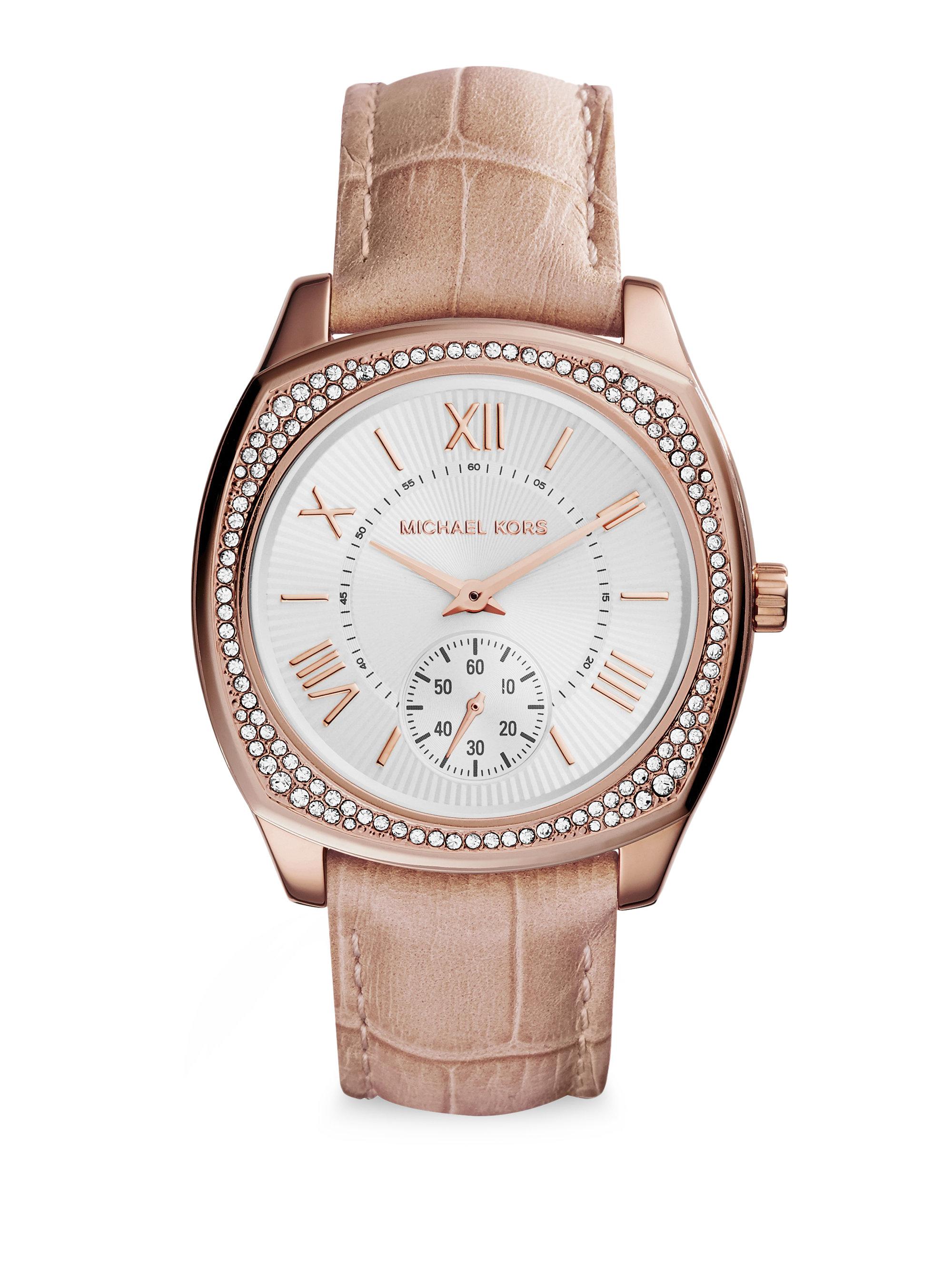6386fda02a04 Lyst - Michael Kors MK2388 Bryn Watch in Pink