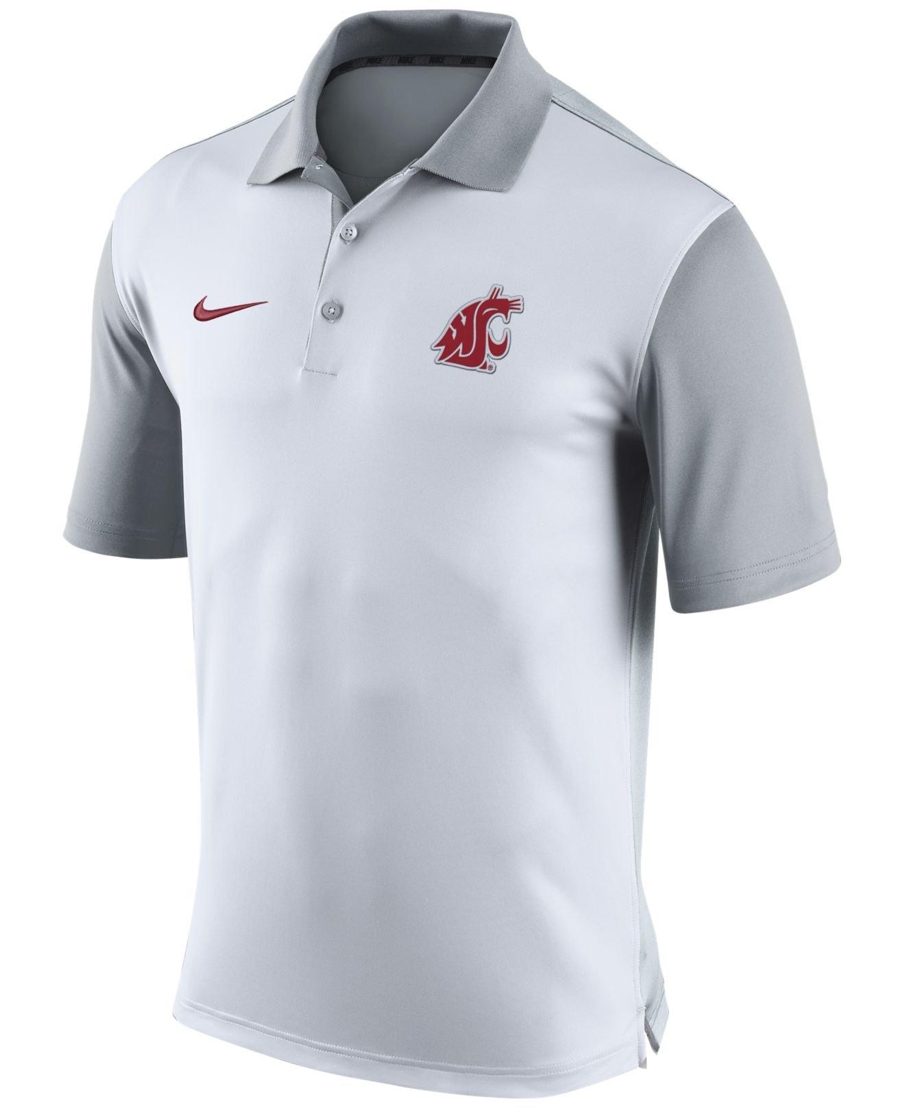 7f80a845c Lyst - Nike Men s Washington State Cougars Preseason Polo in White ...