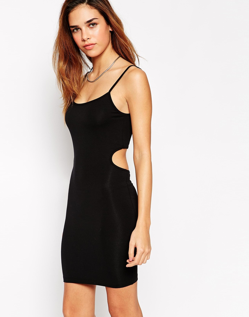 strappy mini bodycon dress