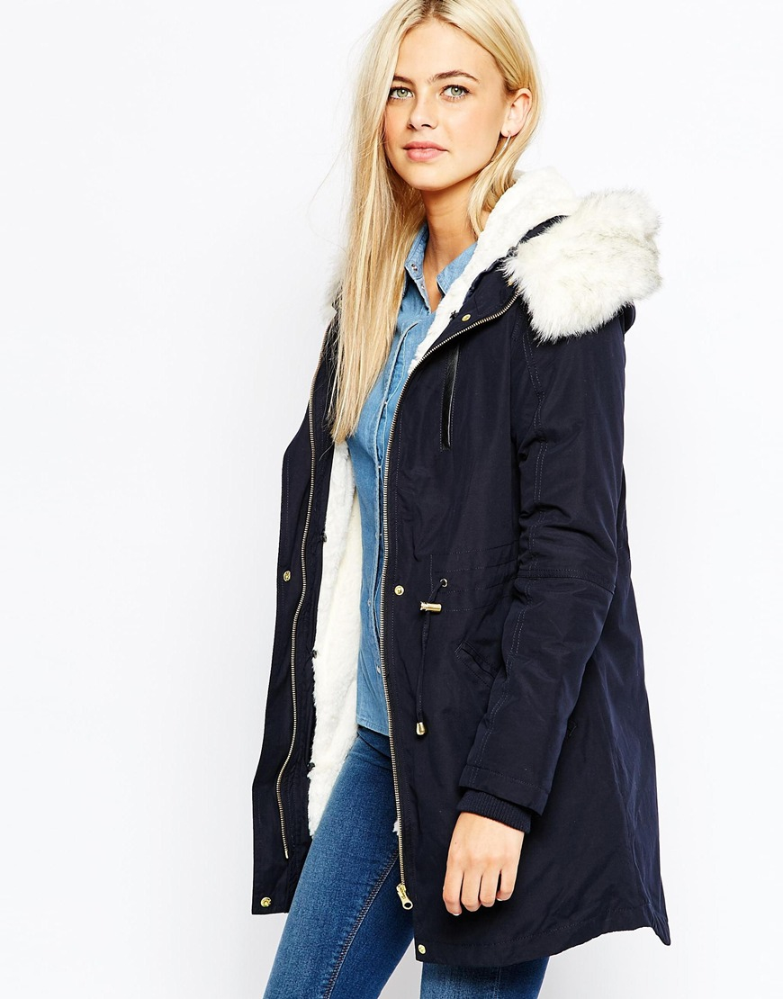 Oasis Premium Parka With Faux Fur Hood And Detachable Lining in ...