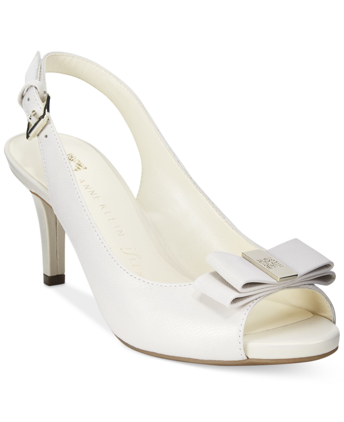 8625025a03b Lyst - Anne Klein Stephania Slingback Pumps in White