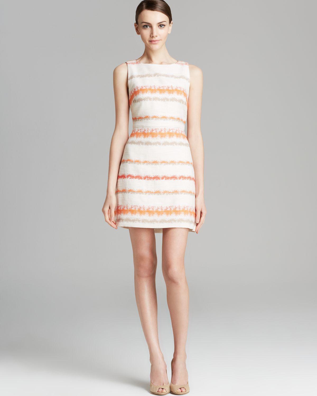 Lyst Alice Olivia Dress Eli Stripe Tweed