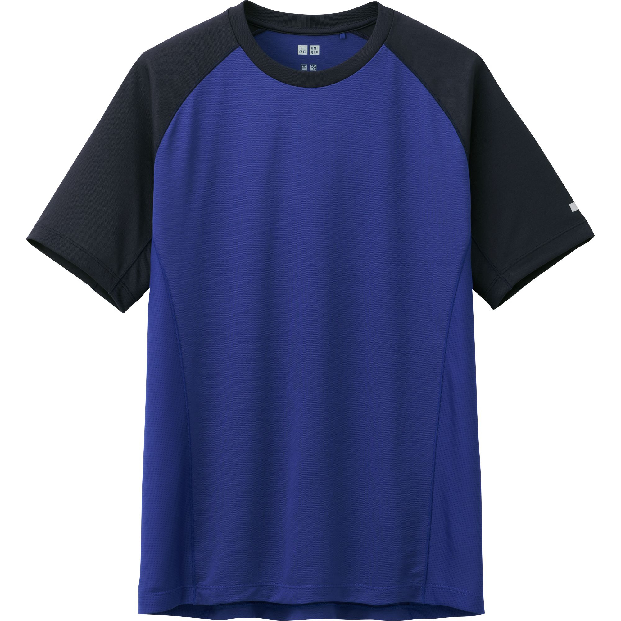 Uniqlo men dry mesh crew neck short sleeve t shirt in blue for Uniqlo t shirt sizing
