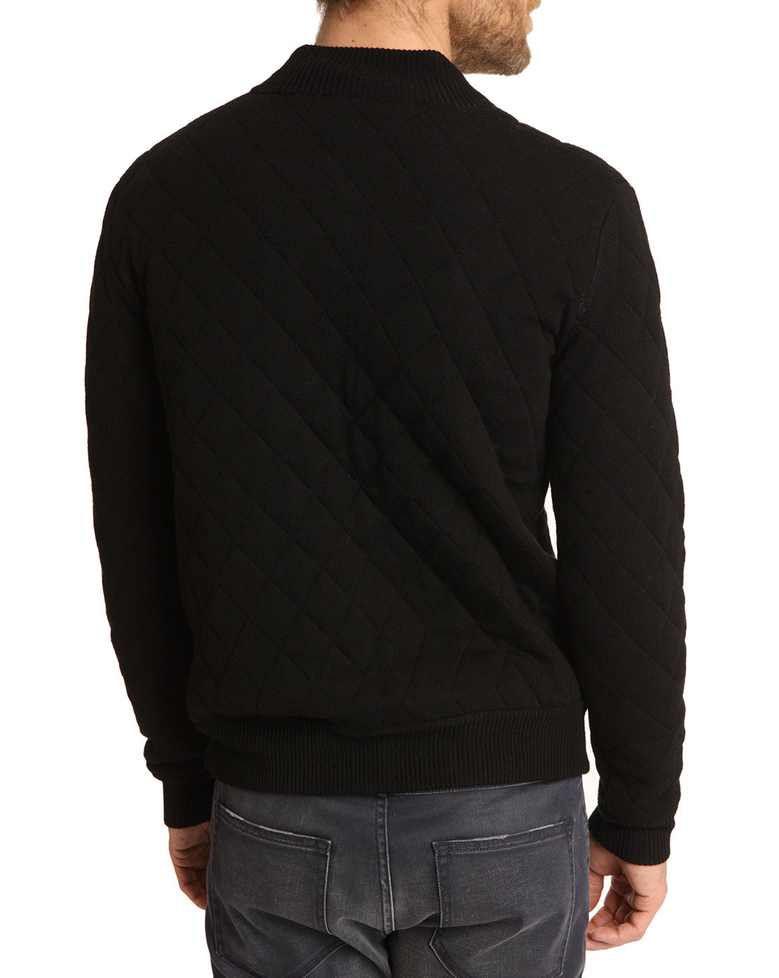Closed Quilted Black Wool Jacket In Black For Men Lyst