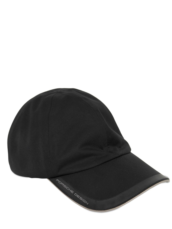 lyst porsche design waterproof baseball hat in black for men