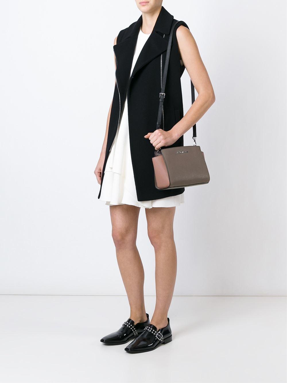 michael michael kors medium 39 selma 39 crossbody bag in brown. Black Bedroom Furniture Sets. Home Design Ideas