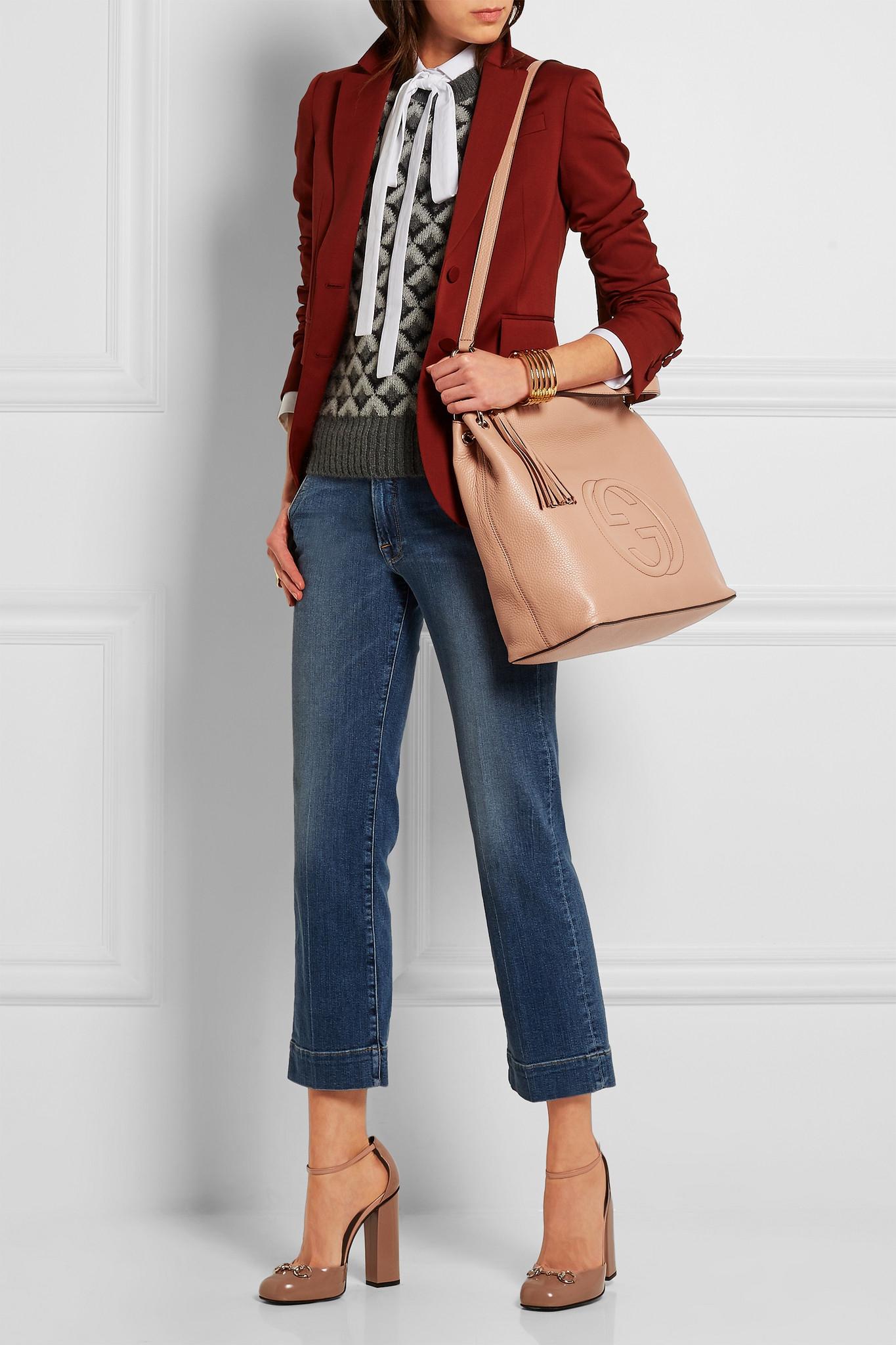 c58023886 Gucci Soho Hobo Large Textured-leather Shoulder Bag - Lyst