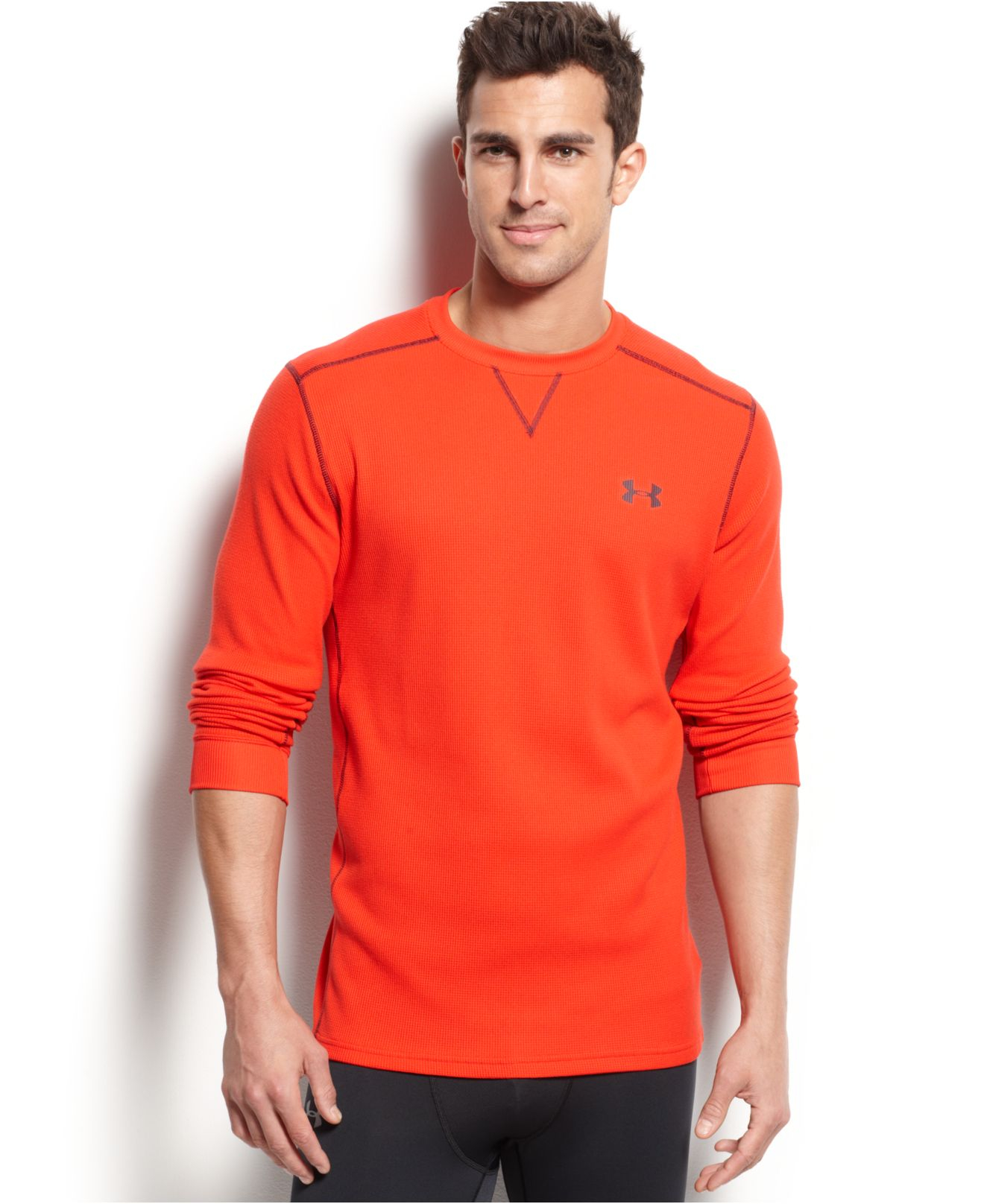 Under armour men 39 s amplify long sleeve thermal t shirt in for Thermal t shirt long sleeve