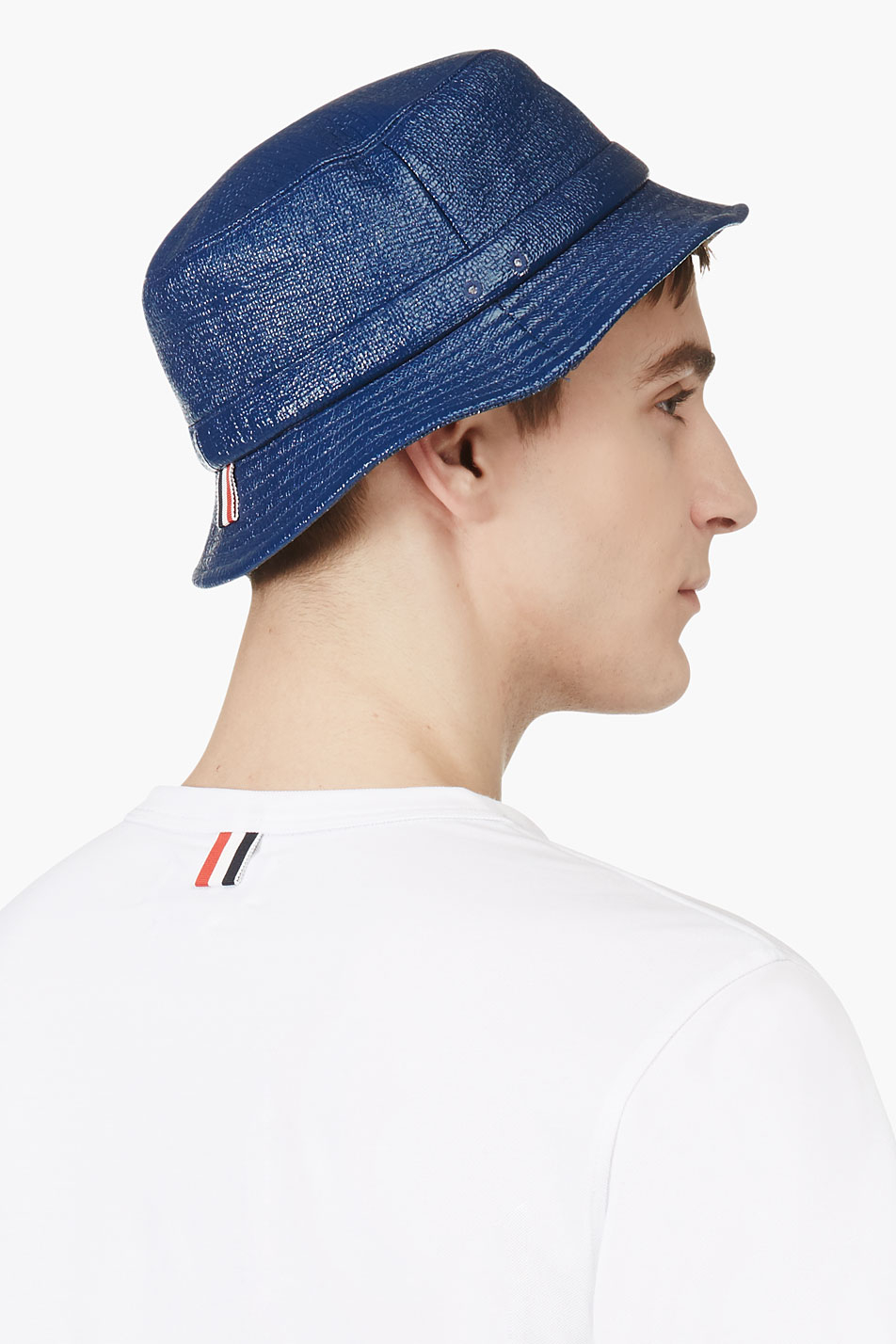 Lyst - Thom Browne Navy Waxed Cotton Tilley Hat in Blue for Men a03036905763