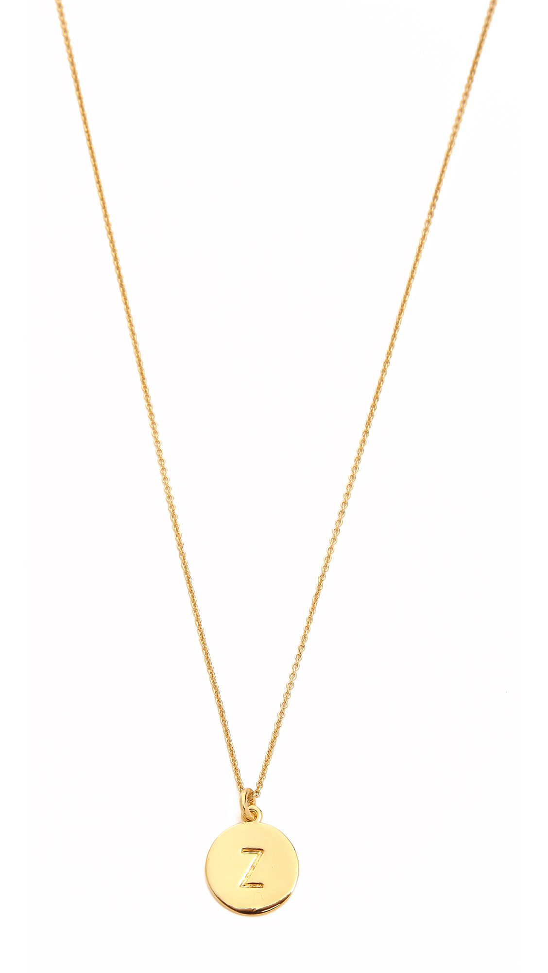 Kate spade letter pendant necklace in gold z lyst for Letter s necklace gold