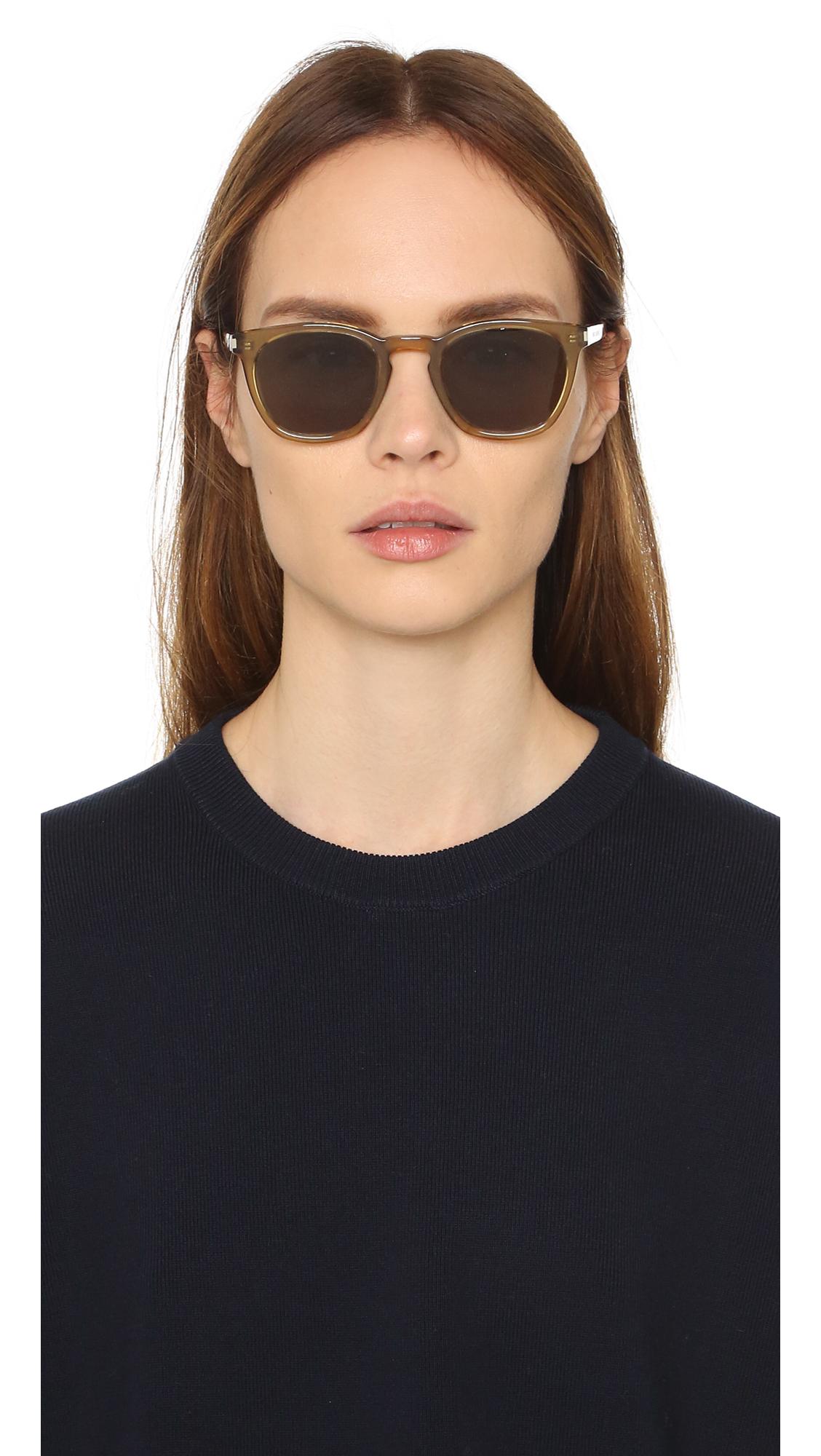 Saint Laurent Sl 28 Sunglasses In Green Lyst