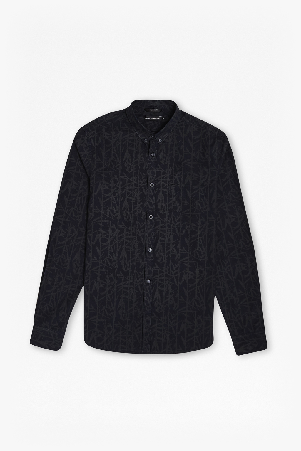 French connection bamboo cotton brosnan shirt in black for for Bamboo button down shirts
