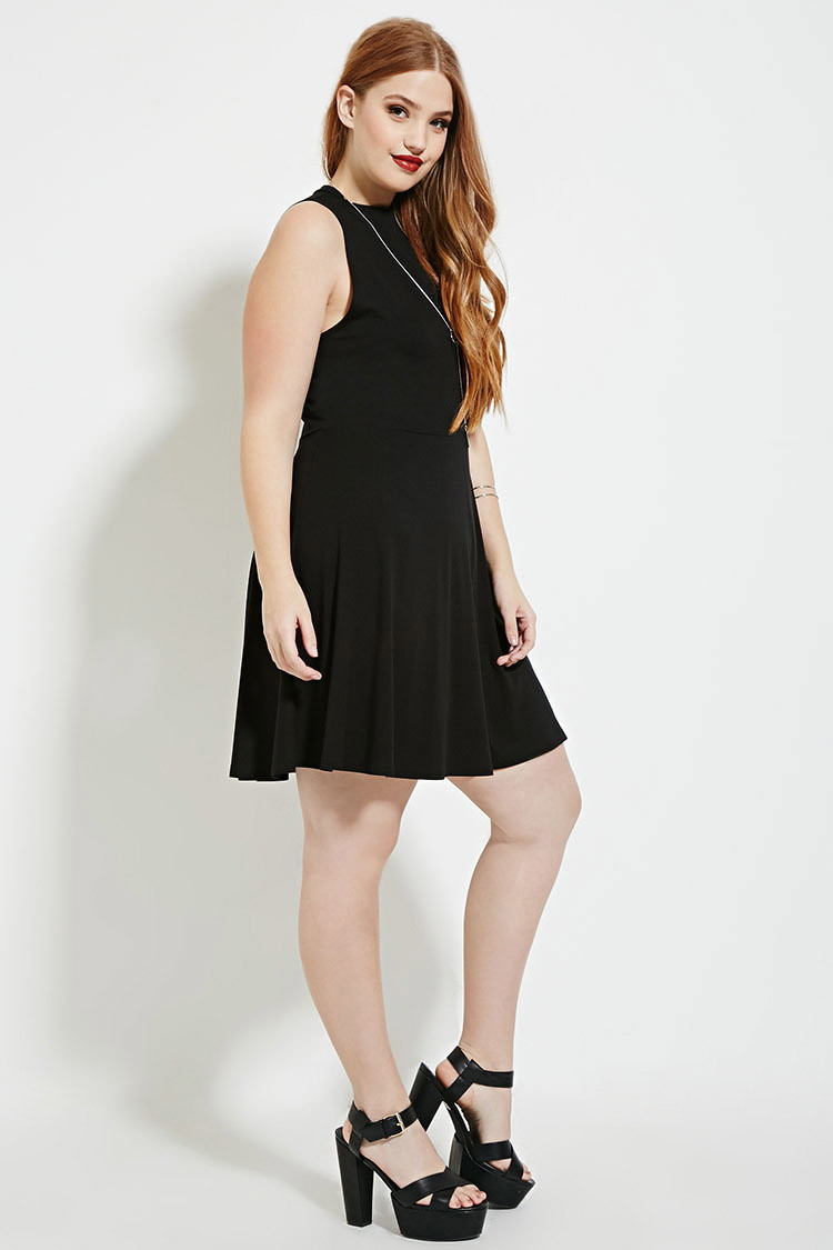 Forever 21 Plus Size High-neck Dress in Black   Lyst