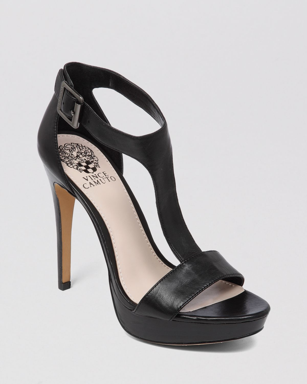 Vince camuto Open Toe Platform Sandals Jerimya High Heel in Black