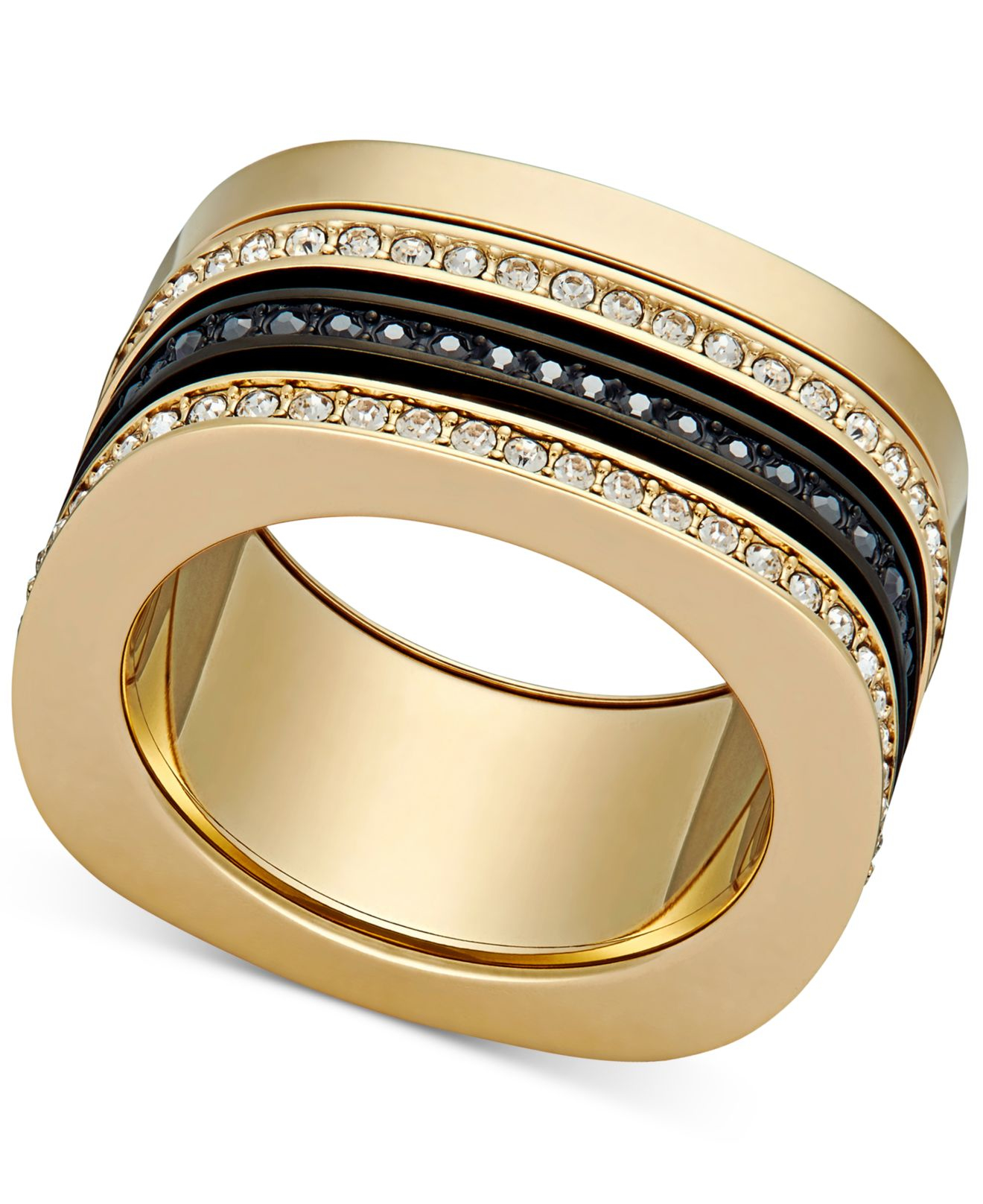 581bcf4a7 Swarovski Vio Two-tone Crystal Stackable Ring in Metallic - Lyst