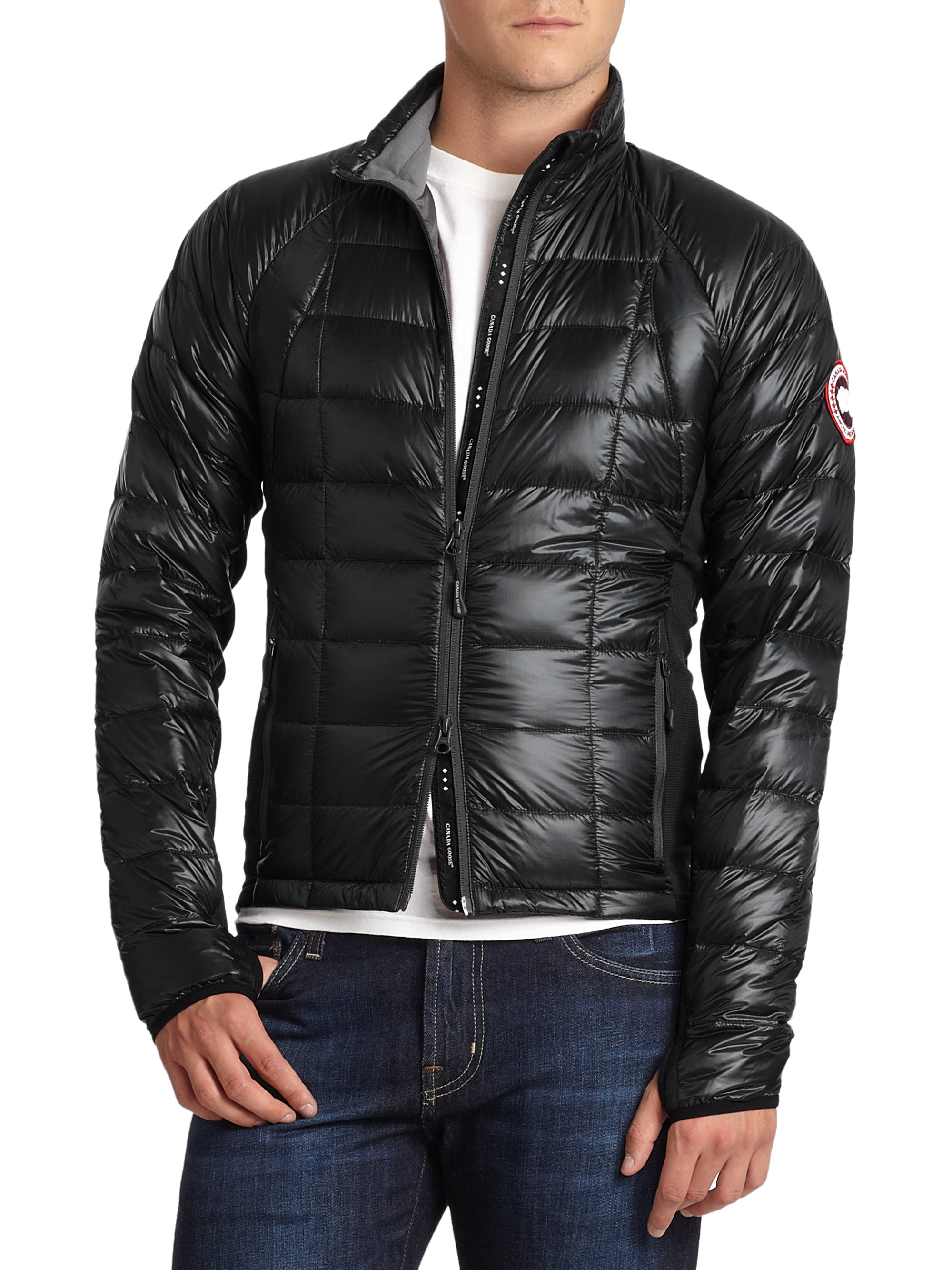 Canada goose Hybridge Lite Jacket in Black for Men (black ... - photo#2