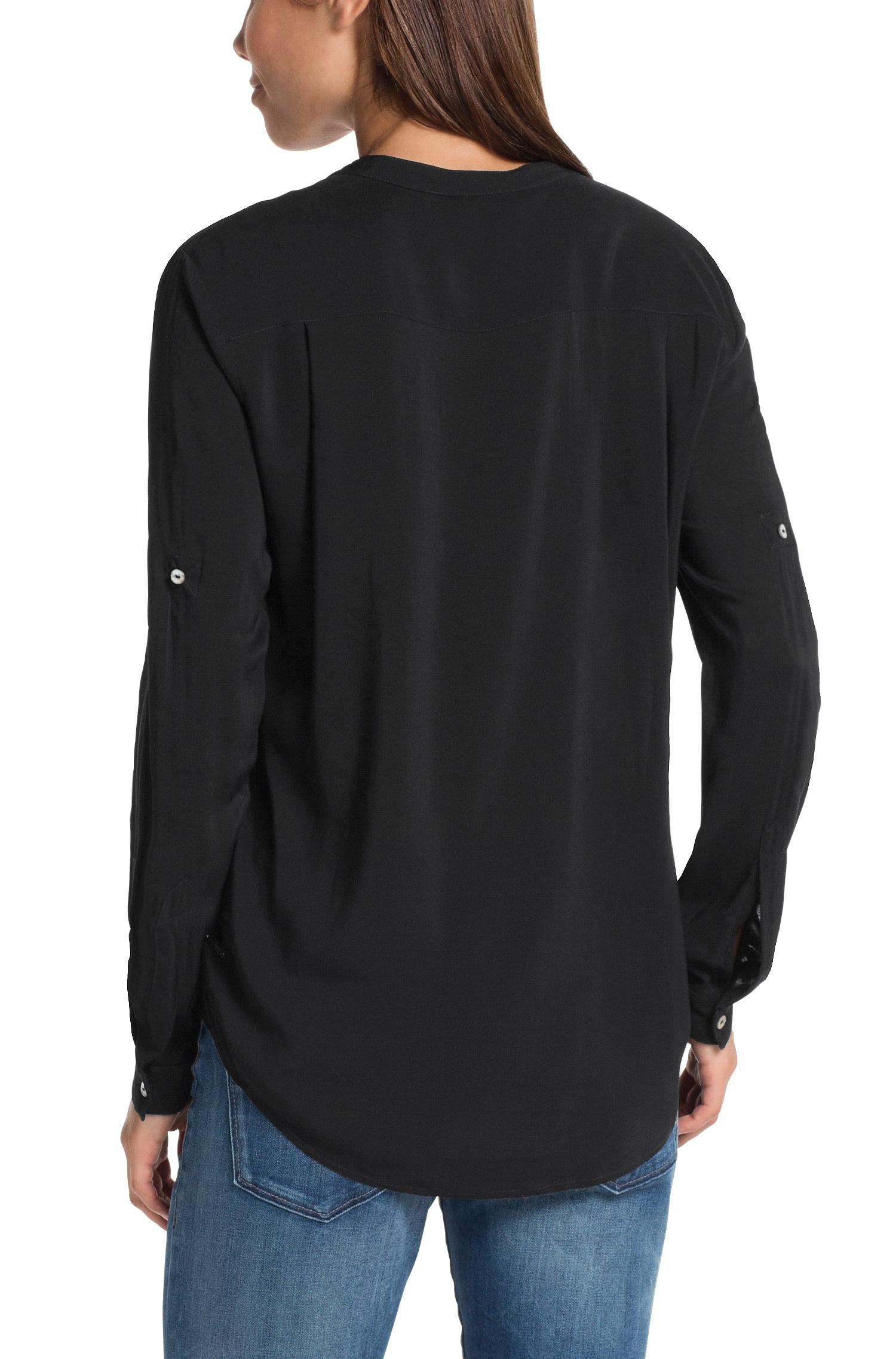 lyst boss orange blouse 39 efelize 1 39 in viscose in black. Black Bedroom Furniture Sets. Home Design Ideas