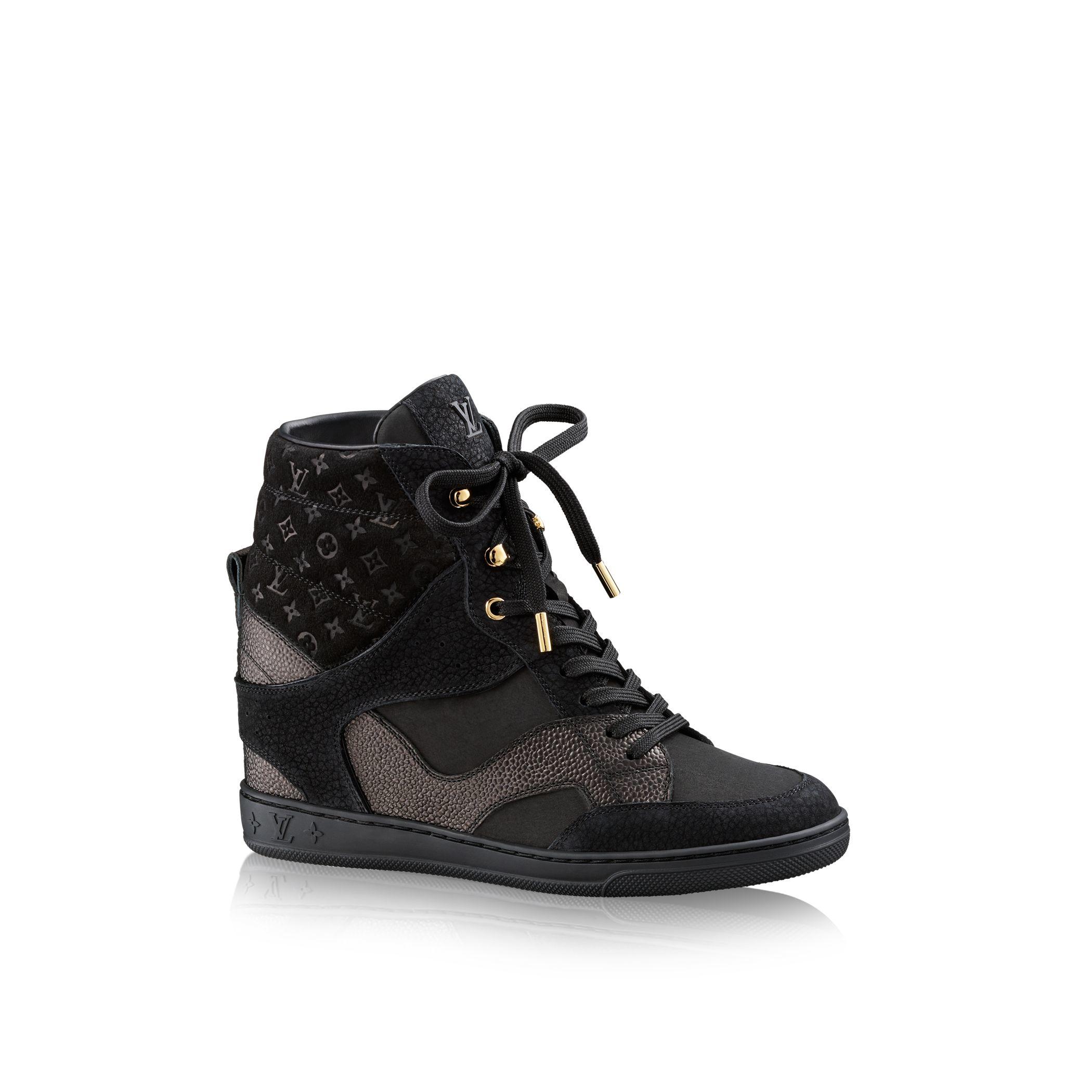 louis vuitton cliff top sneaker boot in black lyst