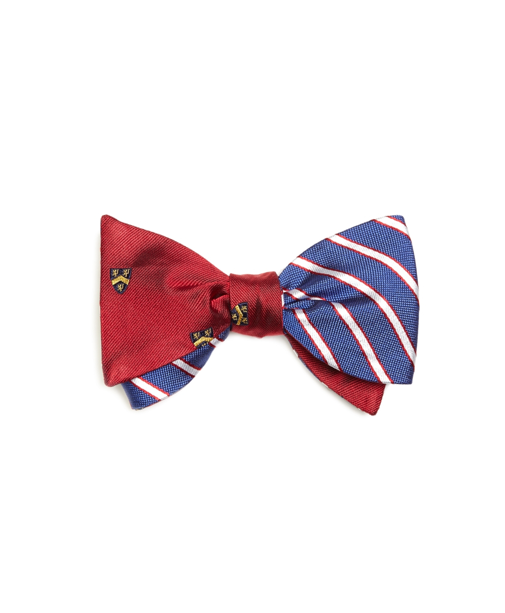 Brooks brothers Crest With Mini Bb#2 Stripe Reversible Bow ...