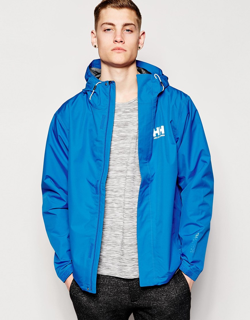 Lyst Helly Hansen Seven J Rain Jacket In Blue For Men