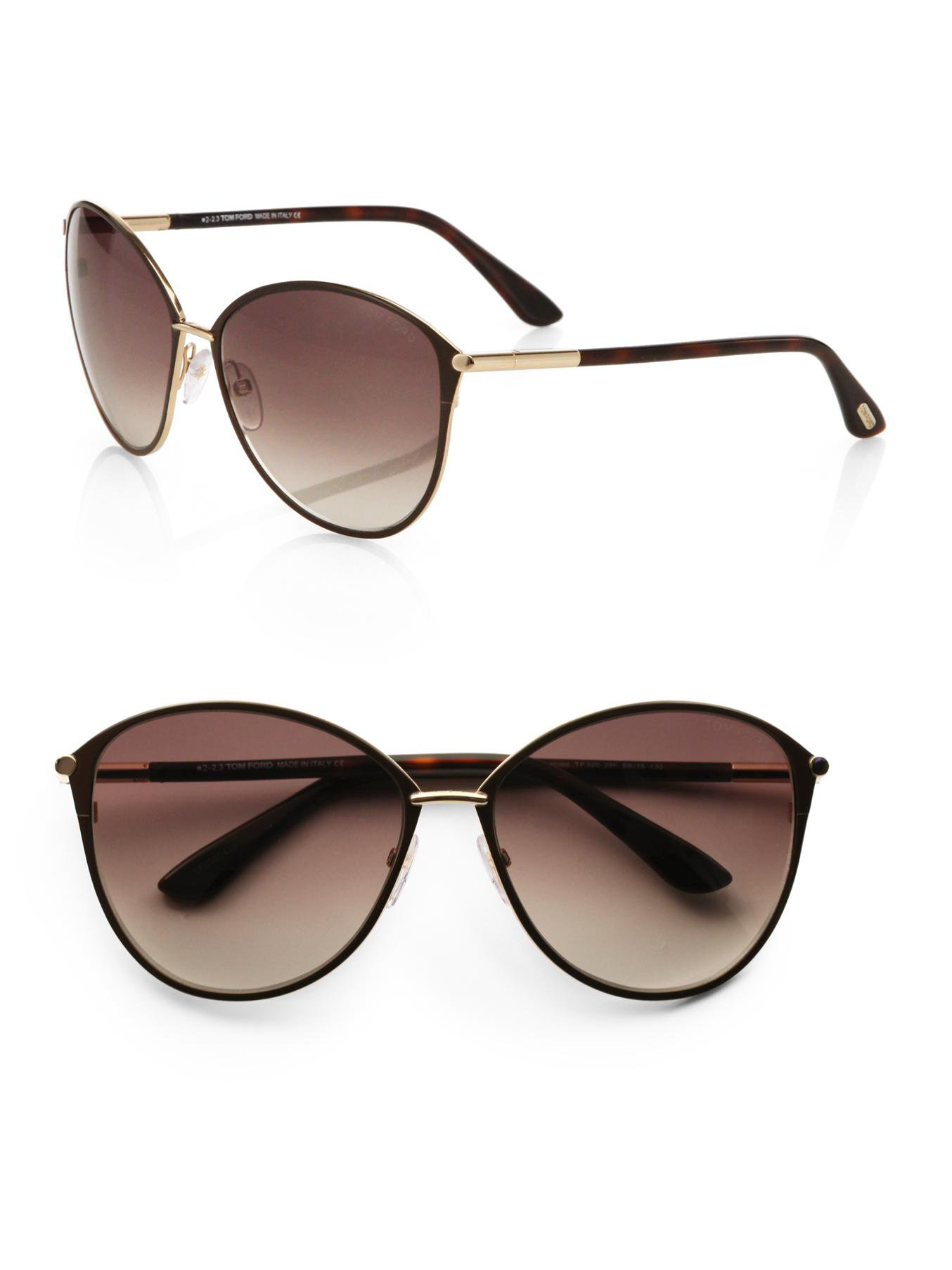tom ford eyewear tortoise penelope metal cats eye sunglasses brown. Cars Review. Best American Auto & Cars Review