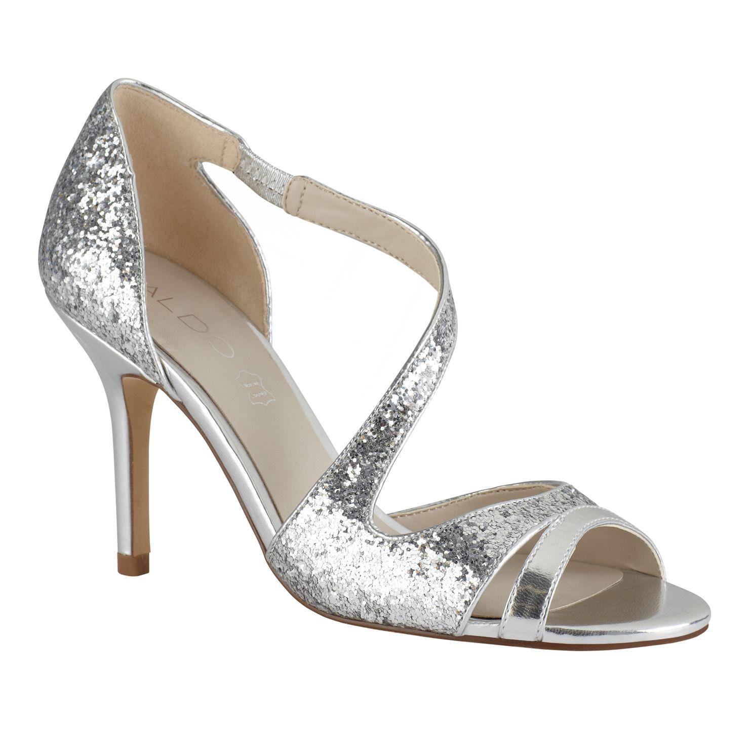 Aldo Legaynna Strappy Stilleto Sandals In Silver