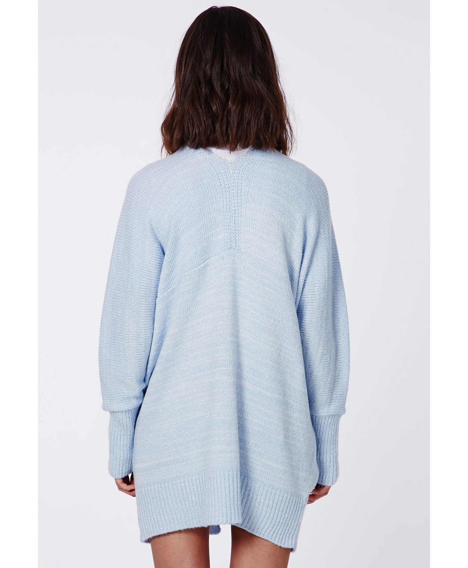 Missguided Valene Oversize Batwing Slouch Cardigan Light Blue in ...