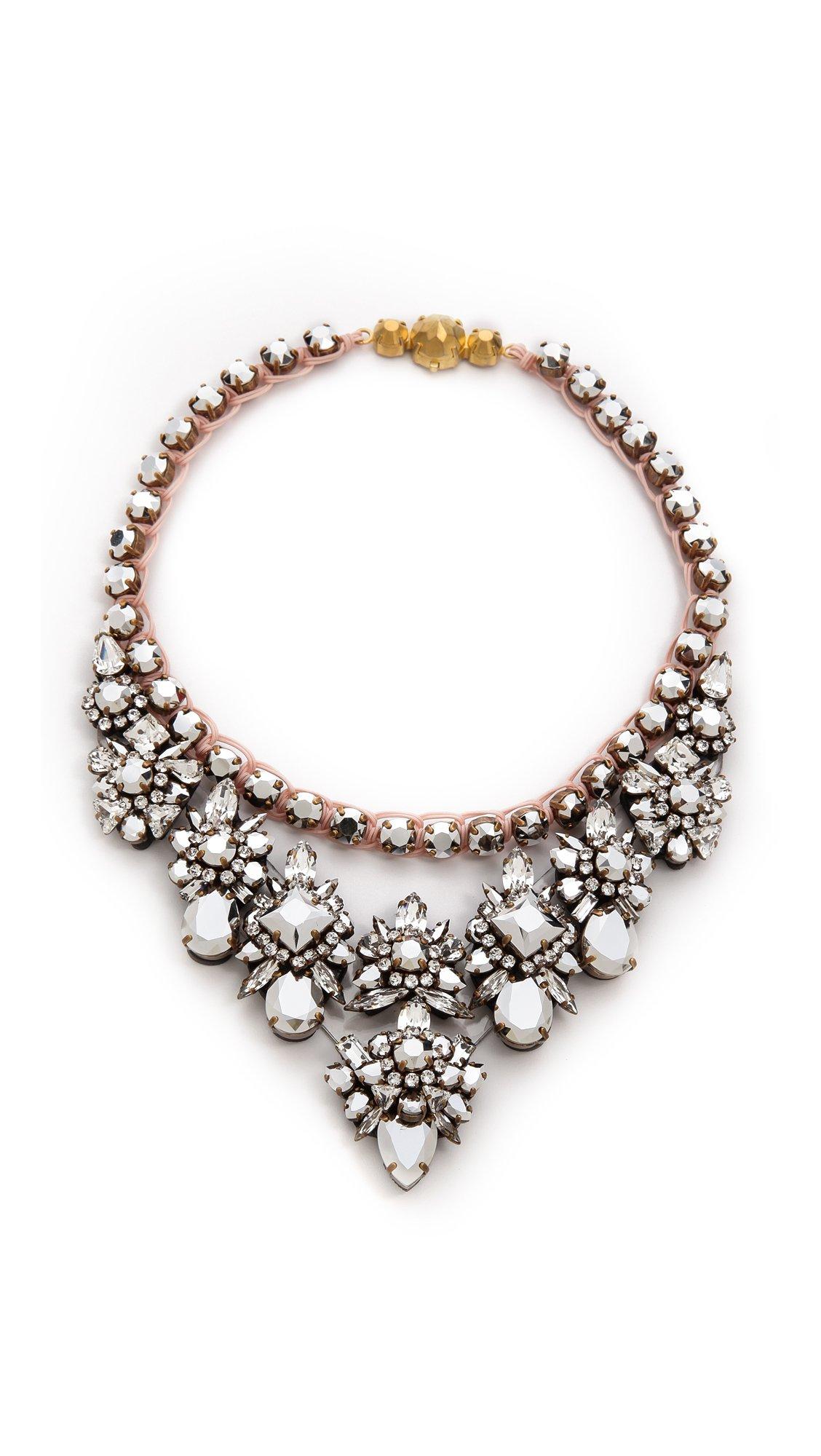 shourouk princess necklace comet in pink lyst
