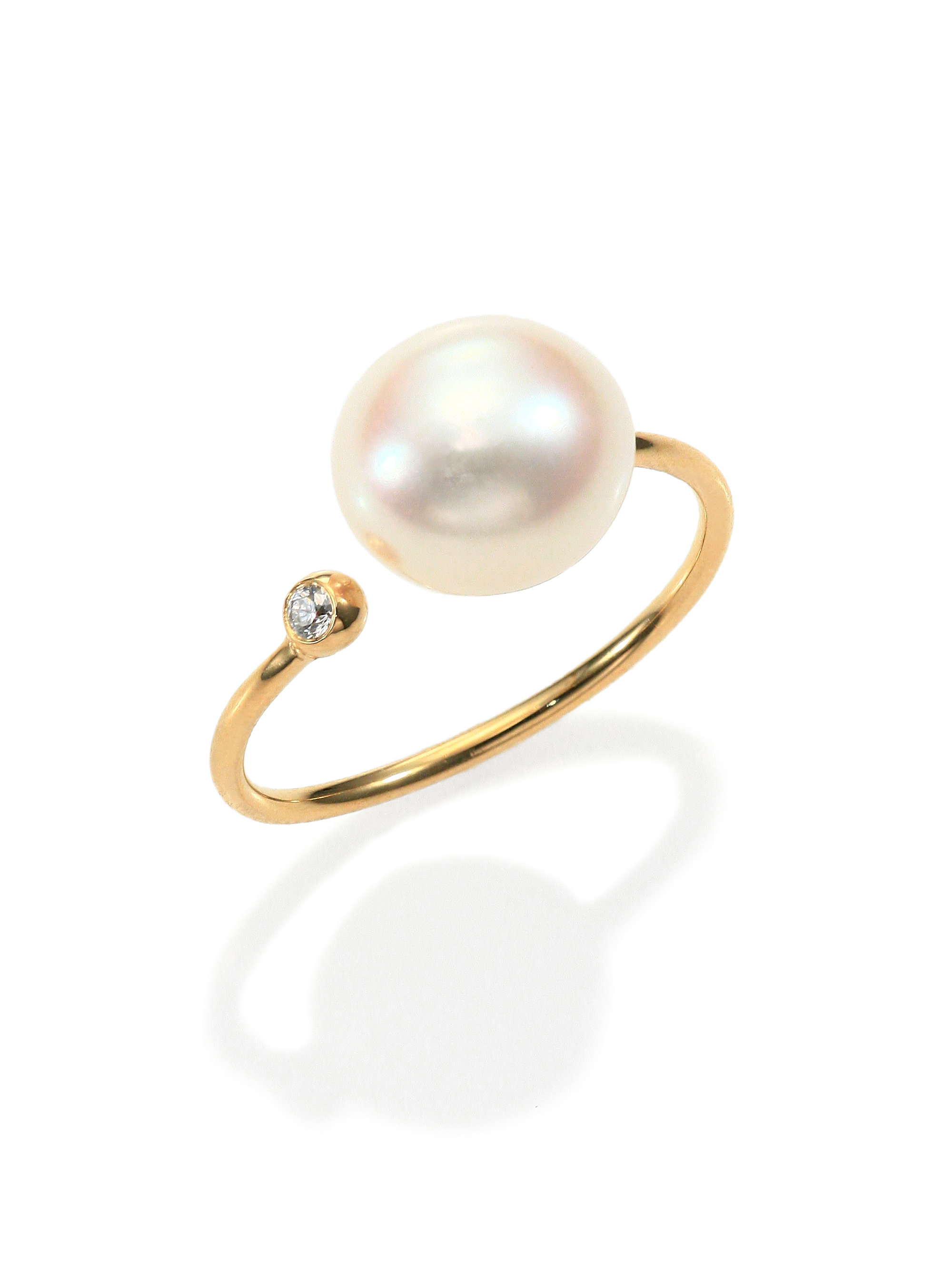 white ring tw rings freshwater diamonds in cultured pearl wedding with gold