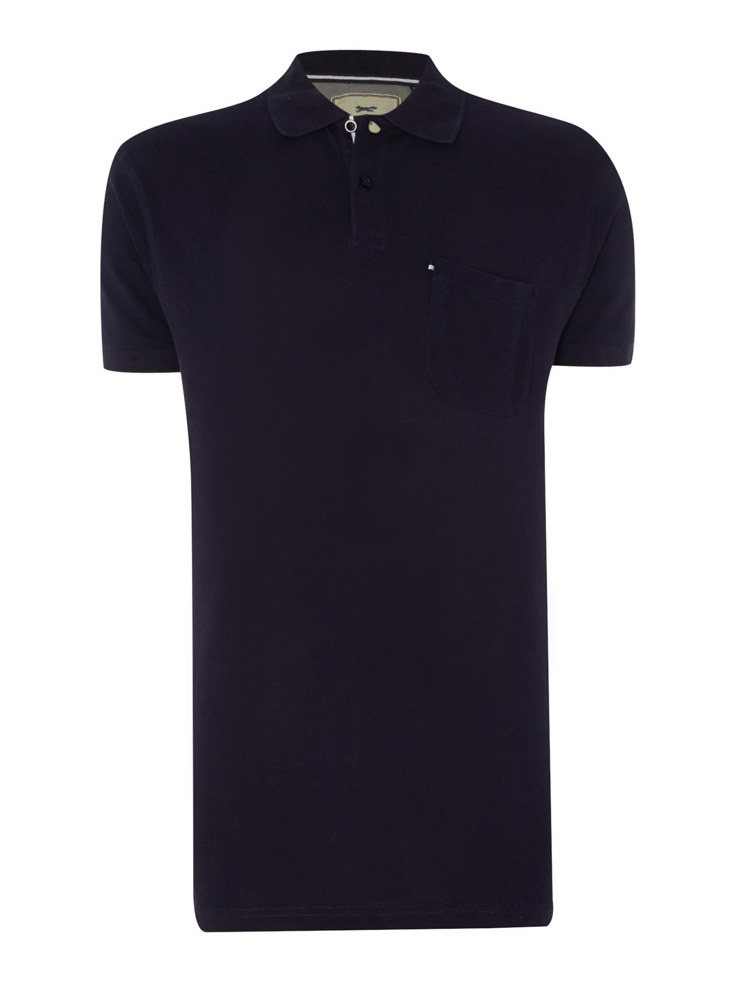 Paul costelloe plain polo regular fit polo shirt in blue for Plain navy polo shirts
