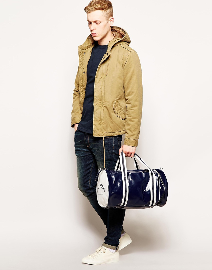 05ce20b14d Lyst - Fred Perry Classic Barrel Bag in Blue for Men