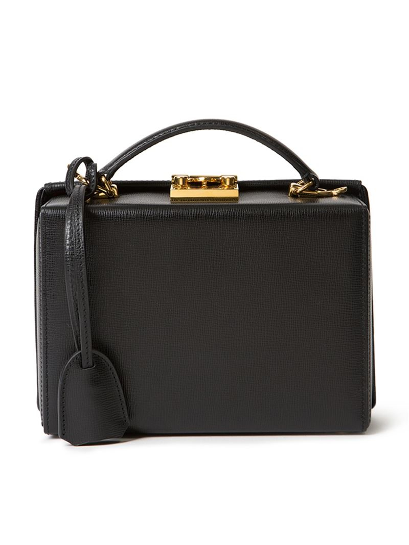 ff17a02013 Mark cross Grace Small Box Bag in Black