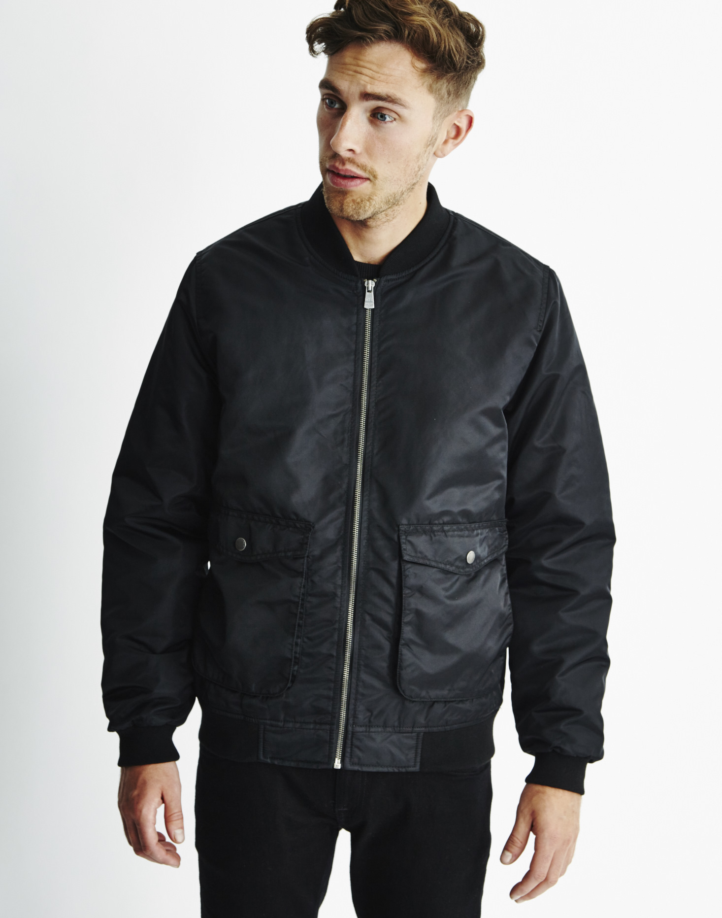 Only &amp sons Mens Bomber Jacket Black in Black for Men | Lyst