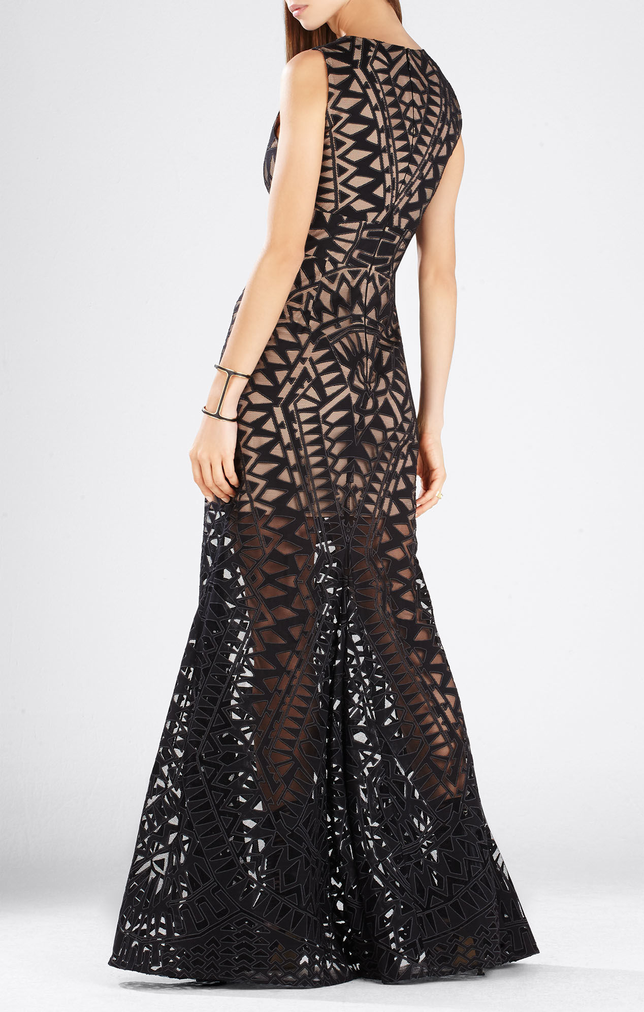 Bcbgmaxazria Maranda Burnout Lace Dress in Black | Lyst