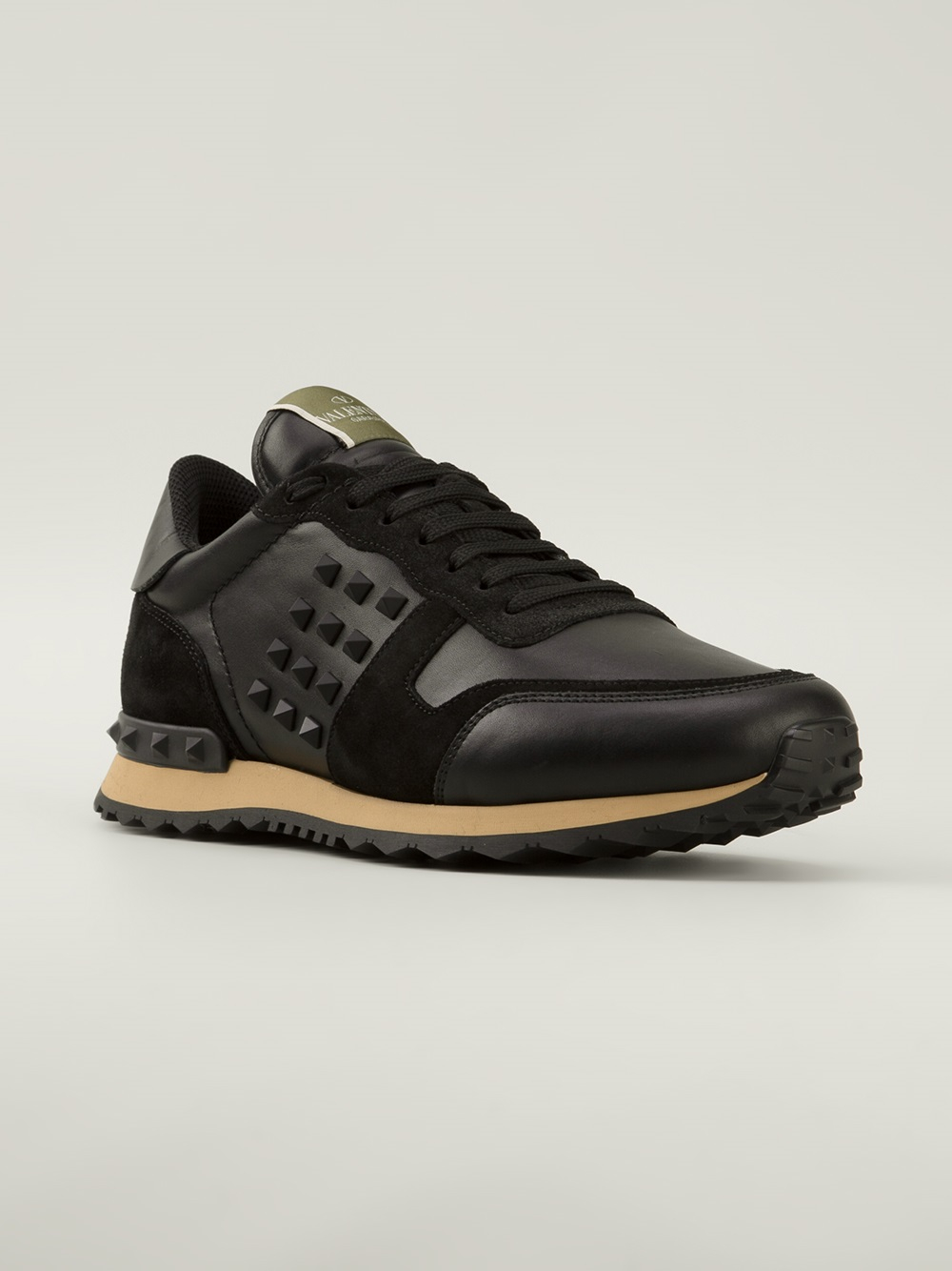 Valentino Rockstud Trainers In Black For Men Lyst