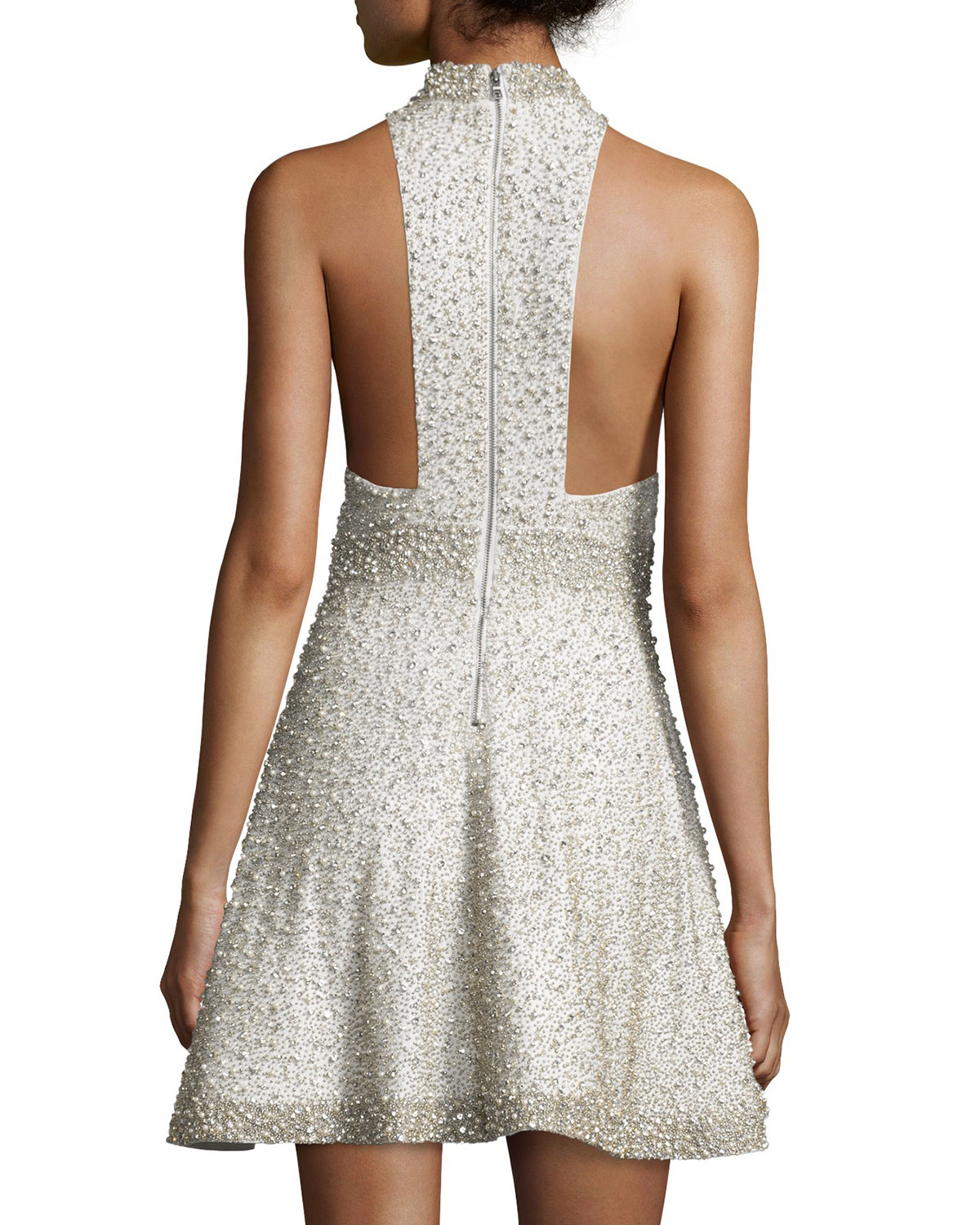 Alice and olivia white racerback dress
