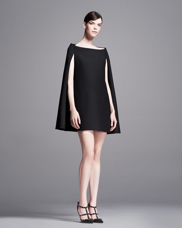 Valentino Cape Dress - Valentino Cape Dress_Other Dresses_dressesss - Valentino  Black Dress Good Dresses - Valentino