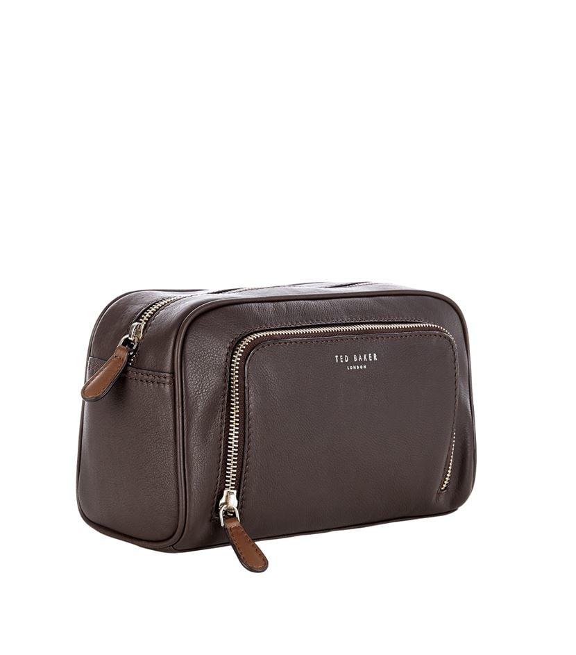 Ted baker Leather Wash Bag in Brown for Men   Lyst