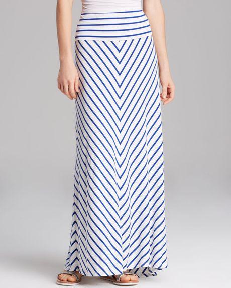 calvin klein striped maxi skirt in blue white regatta lyst