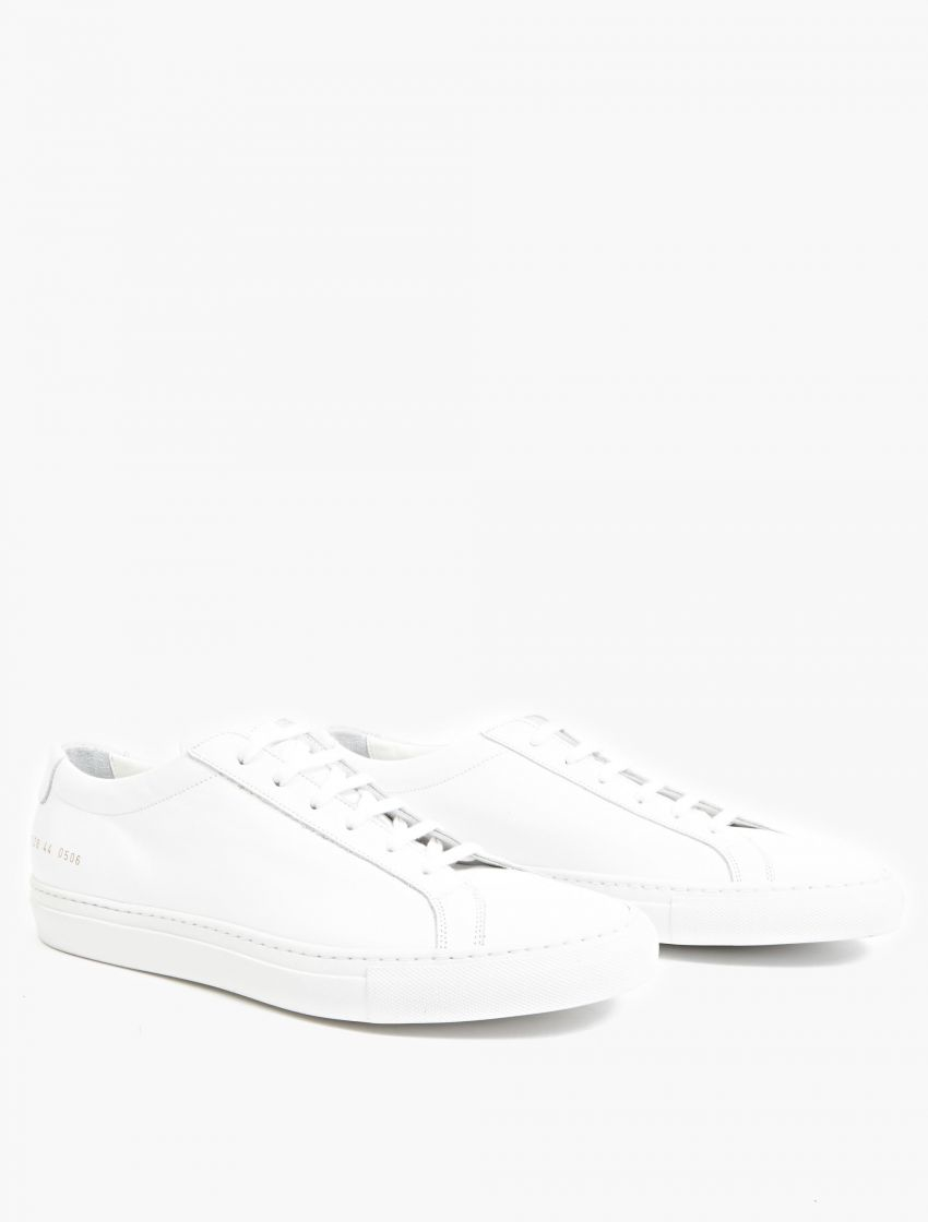 common projects white leather 39 achilles 39 sneakers for men lyst. Black Bedroom Furniture Sets. Home Design Ideas