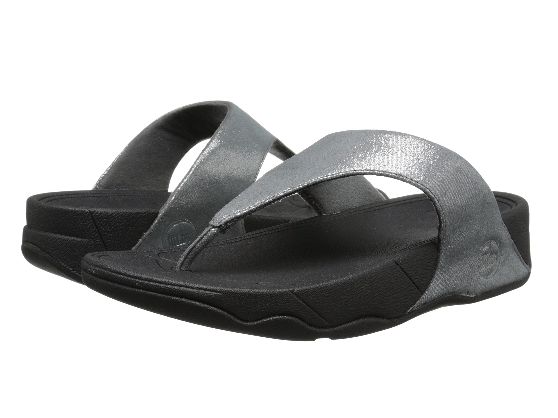 fitflop lulu shimmer suede pewter