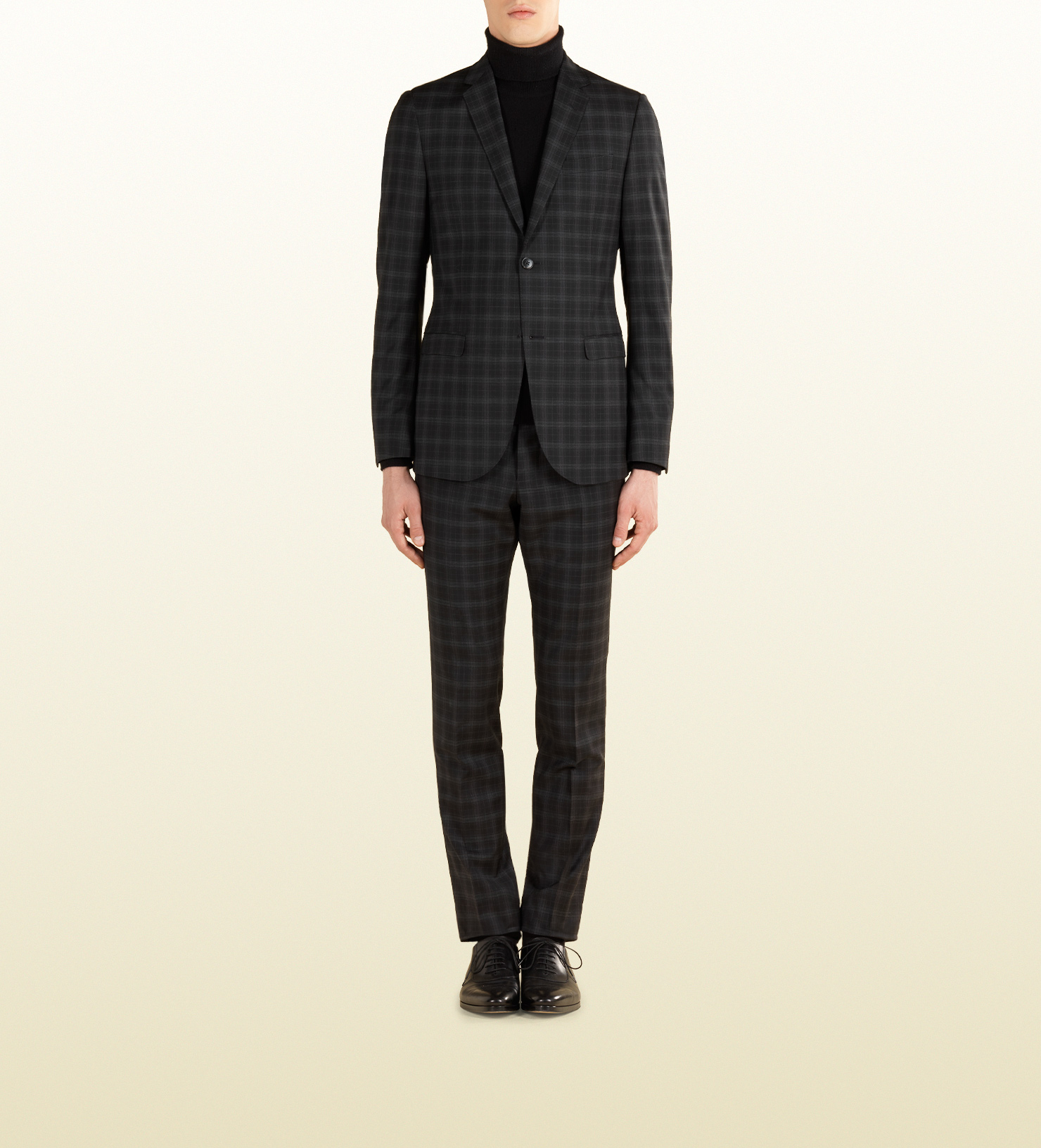 8f4a36080 Gucci Check Print Wool Dylan '60 Suit in Black for Men - Lyst