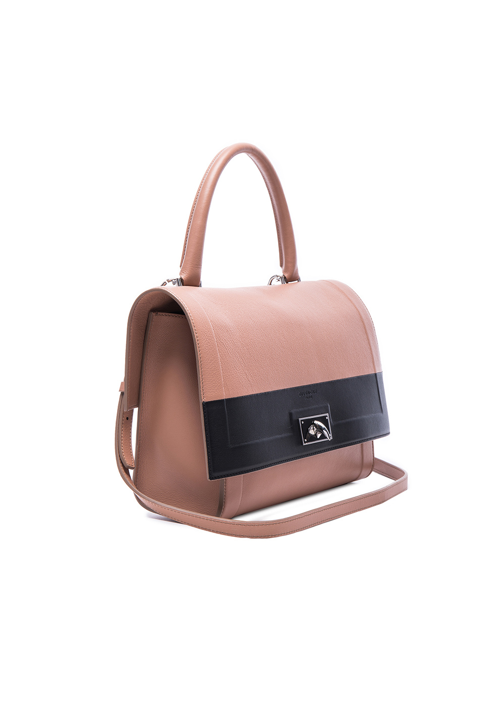 givenchy sale handbags - Givenchy Small Contrast Band Leather Shark Bag in  Pink (Neutrals . b63990ceab04f