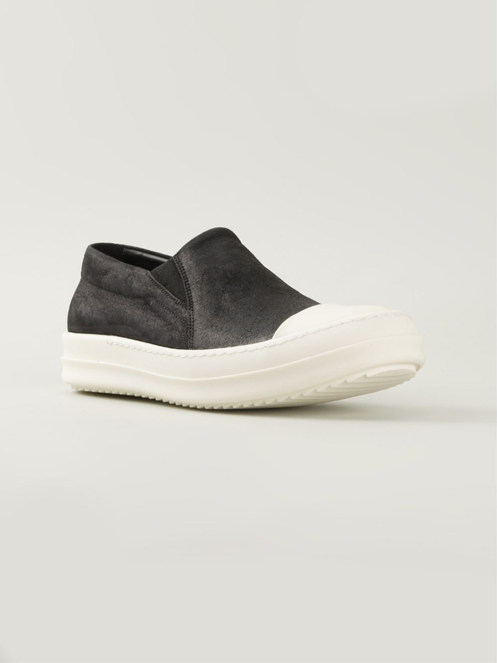 rick owens slip on sneakers in black lyst. Black Bedroom Furniture Sets. Home Design Ideas