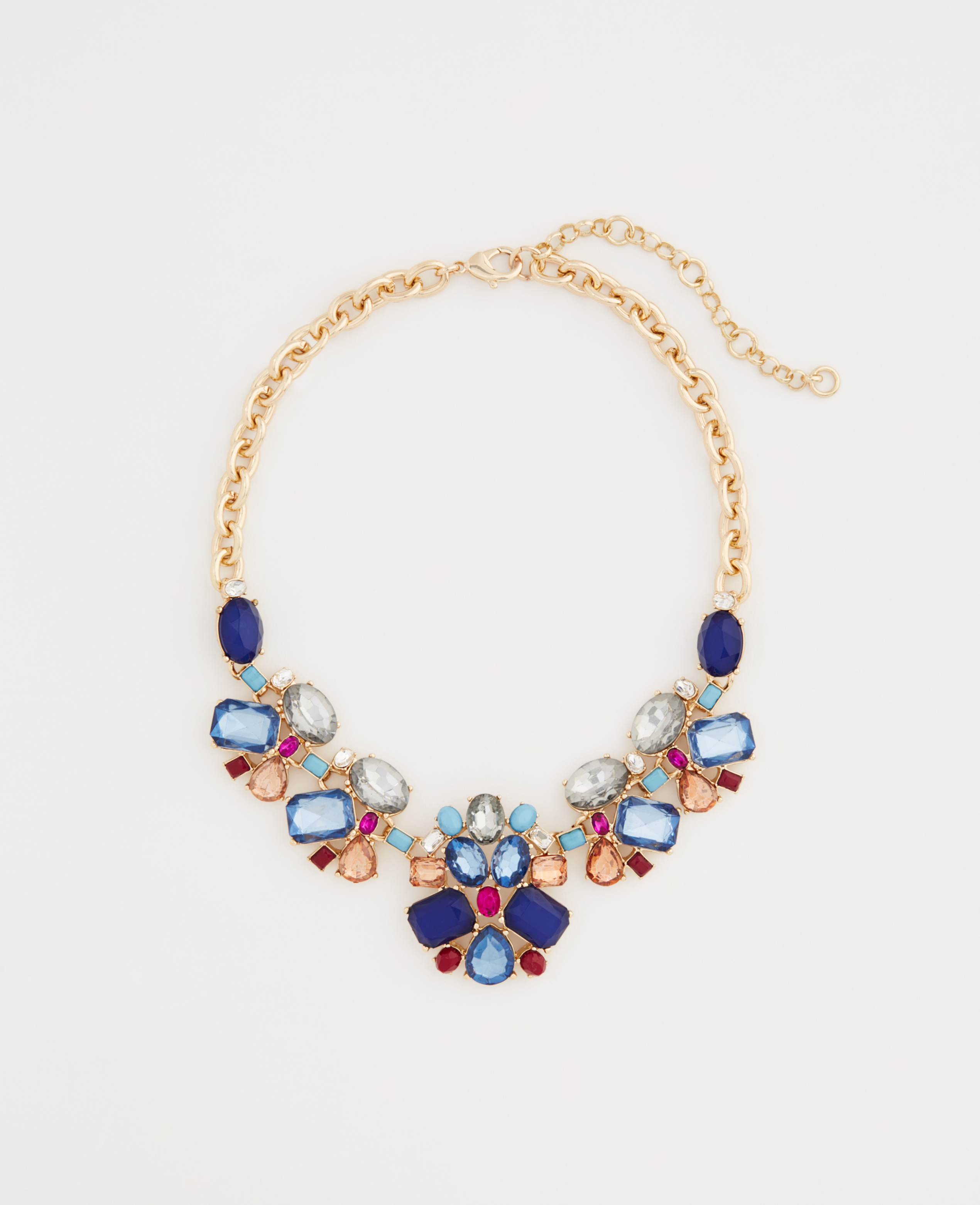 Ann taylor Scattered Stone Statement Necklace in Blue