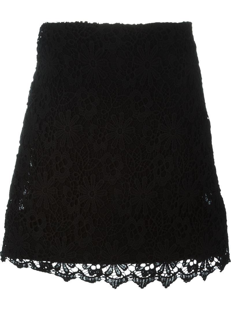 dorothee schumacher lace skirt in black lyst. Black Bedroom Furniture Sets. Home Design Ideas